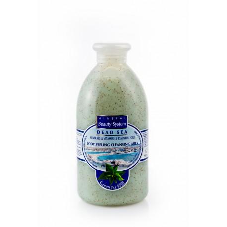 LATTE PEELING CORPO AL TE' VERDE- Body peeling cleansing milk Green Tea